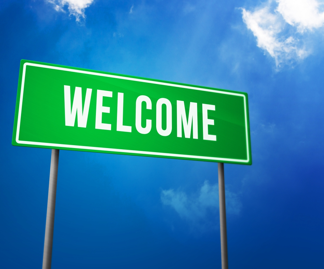 Welcome on Green Road Sign